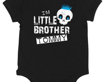 Personalized Lil Brother Skull t-shirt or onesie