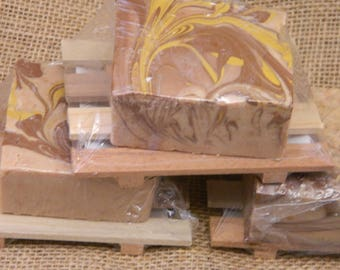 Three Wise Men Goats Milk Gift Set with wooded soap deck