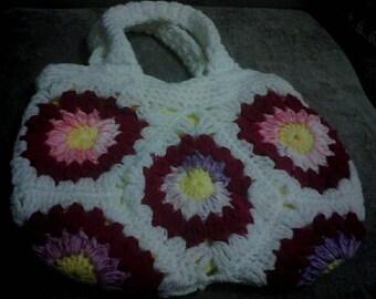 Etsy 13th Birthday Sale Grannysquare Bag Lovingly Hand Crocheted  Ideal Birthday Gift