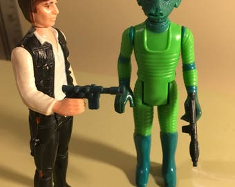1977 Kenner Star Wars Han Solo and Greedo