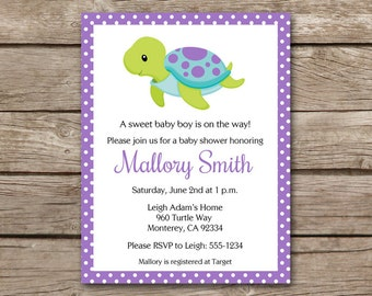 Turtle baby shower invitation printable invite boy or girl sea turtle invitation sea turtle baby shower invitation sea turtle birthday invitation under filmwisefo