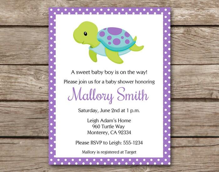 Sea turtle invitation sea turtle baby shower invitation sea zoom filmwisefo