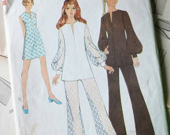 60s outfit Style 2676 sewing pattern - mini dress, tunic and trousers - Bust 38, Waist 29 inches