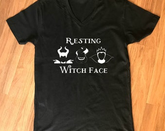 Resting Witch Face Women's Shirt, Resting Witch Face Shirt, Funny Women's Shirt, women's Halloween Shirt, Inspired by Disney Evil Villians