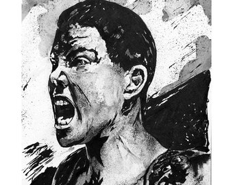 Original Mad Max Fury Road, Imperator Furiosa Ink Portrait