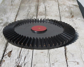 Old Wooden Gear Reuse Recycle Repurpose Upcycle DIY Table Top