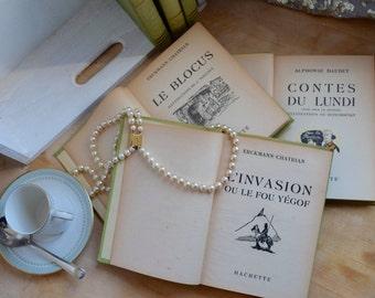 Choose 1 of 6 livres, Erckmann-Chatrian Fritz L'Ami, Waterloo L'Invasion, Le Conscrit De 1813 et Le Blocus, Alphonse Daudet, Contes Du Lundi