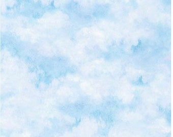 Sky from Claude Monet by Robert Kaufman Fabric 100% cotton  fabric