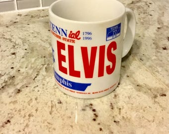 Vintage Elvis Bicentennial 1996 Volunteer State Tennessee Coffee Cup