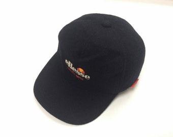 Vintage ELLESSE HEAT MAX Cap Hats BIg Logo Embroidered Casual Fashion Spottwear