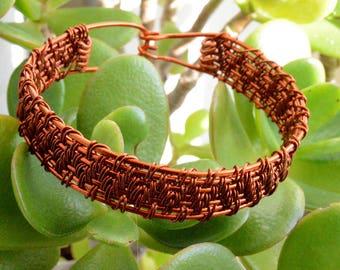 Wire Wrapped Bracelet, Copper Bangle Bracelet, Copper Wire Bracelet, Copper Jewelry, Gift for Him, FREE SHIPPING