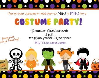 Costume Party Invitation Halloween Costume Party Invitation