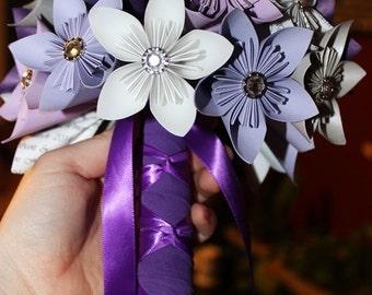 Kusudama paper flower bouquet - Bridal Bouquet
