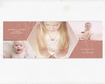 Rose Gold Facebook Timeline Template - Instant Download 001