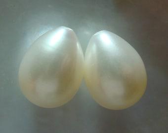 11-12x9-9.5mm,one Pair,  Fresh Water Pearl, AAA, Wonderful lustrous, Gorgeous Genuine Teardrop Pearls, Half Drilled