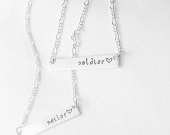 Military Necklace, Sailor, Soldier, Marine, Airman