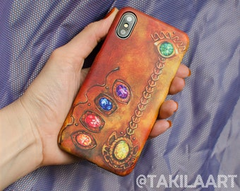 Thanos case for iPhone, Samsung, Infinity War artwork by Takila (customization available)
