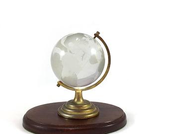 Vintage world globe paperweight