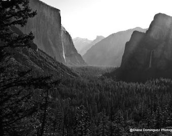 Half Dome Print Yosemite Wall Art Black and White Photography Yosemite Print National Park  Gifts for Hikers Yosemite National Park