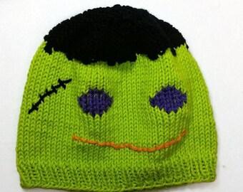 Frankenstein Hat - Halloween Hat - Monster Hat - Kids Halloween Hat - Kids Frankenstein Hat - Monster Costume Hat - Halloween Costume - Prop