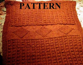 Knit Baby Blanket Pattern, Knitting Pattern, Chunky Yarn, Chart Pattern Included, Digital Pattern, **Instant Download**