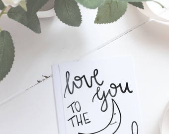 Wall art - Love you to the moon and back, nursery art