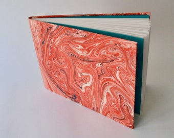 Handmade Sketchbook, Marbled Covers