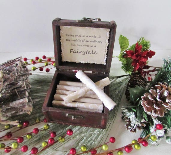 Disney Christmas Gift, Romantic Disney Movie Love Quotes in Wood Treasure Chest, Disney Birthday, Disney Anniversary, Disney Love Quotes
