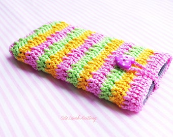 Crochet Phone case, crochet phone pouch, crochet phone cover, crochet iPhone Case, crochet iphone 5 pouch crochet iphone cover, phone sleeve