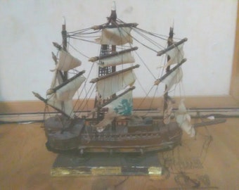Vintage Spanish Ship Model Frageta Espanola 1780   *******1940's-1960's******