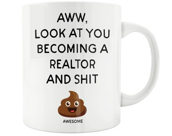 Realtor Gift, Real Estate Agent Mug, Closing Gift, Closing On A House,  House Warming, Appreciation Gift, Funny Office Mug, New Home Owner