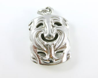 Vintage Double Sided Tragedy Mask Theater Comedy Charm