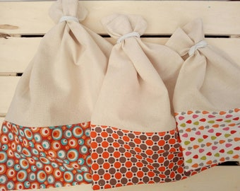 Bag in bulk. Zero waste. Great for market or shopping at the health food store etc... Surprise fabrics or fabrics to choose