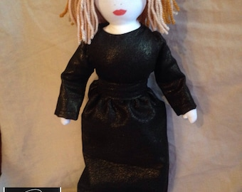 Adele Inspired Fabric Doll
