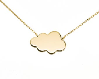 Necklace cloud plated gold