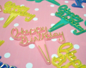 15 Kitshy Happy Birthday Cupcake Picks