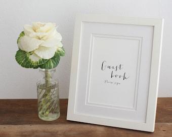 Wedding guest book signage