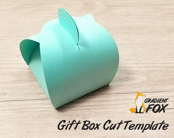 Curvy Treat Box SVG Cutting File