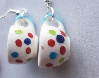 Spotty Mug Earrings