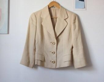 1990s Slouchy Blazer Suit Jacket Size S/ uk 8-10/ eu 36-38/ us 4-6