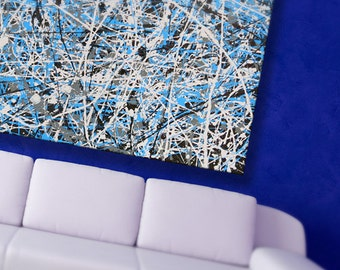 Modern Abstract Oil Paining - 90 x 90cm Original One Off Oil painting.