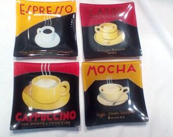 Mocha / Cappuccino / Expresso / Latte Snack/Dessert Plates