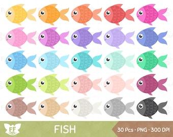 Fish Clipart, Fishes Clip Art, Fishies Aquatic Marine Cartoon Animal Pet Goldfish Cute Digital Graphic PNG Download, Commercial Use