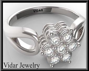 Unique Engagement Ring,Flower Engagement Ring,Diamond Engagement Ring,Gold Engagement Ring,Halo,UNIQUE,Pave,Weddings,Luxury,Brides