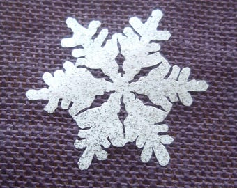 Snowflake iron-on silver or white appliques