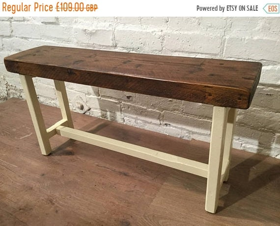 ... August Sale Farrow U0026 Ball Painted Reclaimed Solid Pine Bench By Village  Orchard Furniture And Free