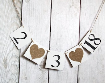 Save the date banner,Wedding date banner,Chipboard banner,Wedding banner,Engagement banner,Photo prop banner