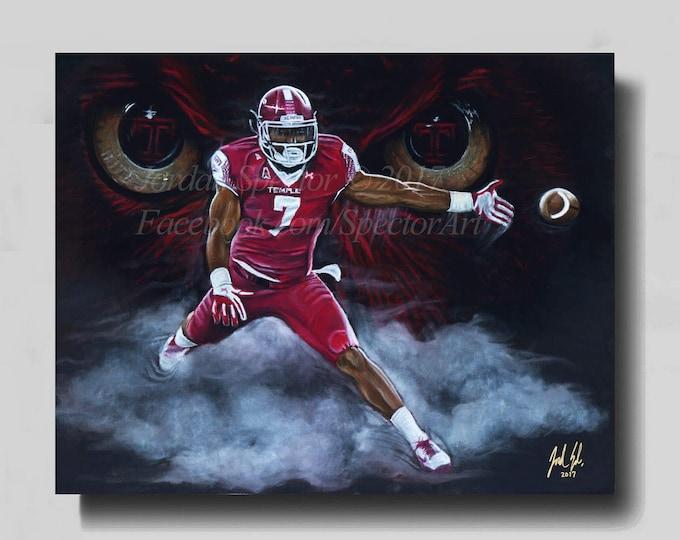 Haason Reddick - Temple Football - Temple Owls - Temple University - Temple Dorm Decor - Wall Art- Man Cave - NFL Draft - Gift Ideas