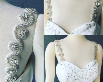 Detachable Rhinestone Crystal Straps to Add to your Wedding Dress Clear Color