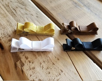 Baby Hair Bows, Baby Clips, Baby Bows, Small Baby Bows, Small Baby Clips, Baby Hair Clips, Small Hair Clips, Baby Clip Bows, Baby Clip Set